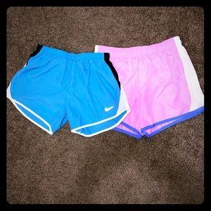 Girls shorts size 14-16 one Nike one Danskin Now